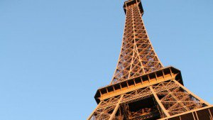 Eiffel Tower close up view