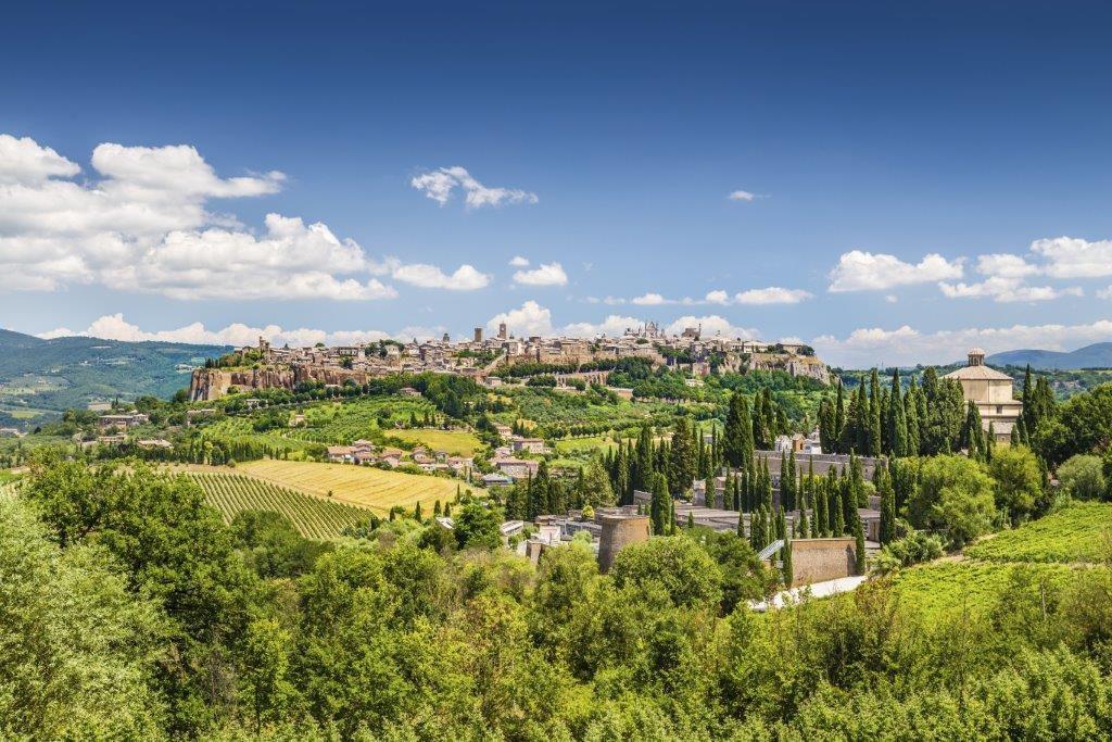 Orvieto town view Italy