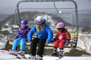 Snowsports children on chairlift