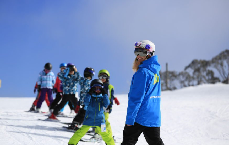 snowsports group lessons primary school students