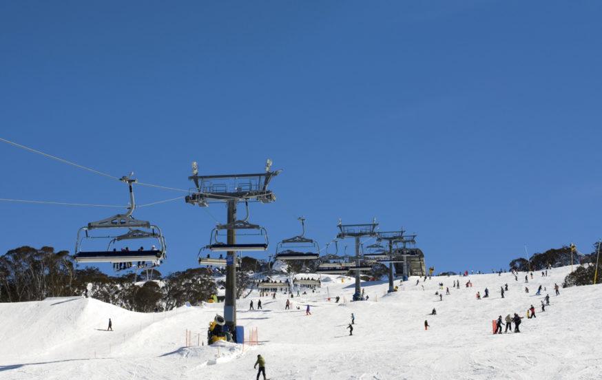 Snow Skiers Perisher, NSW, Australia