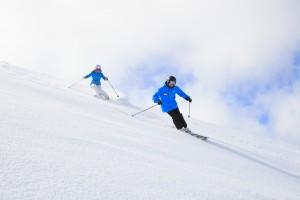 Hotham Skiiers White Snow