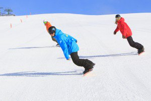 Mt Buller snowboarders on the slopes