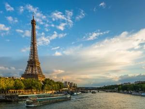 Eiffel Tower Seine River France