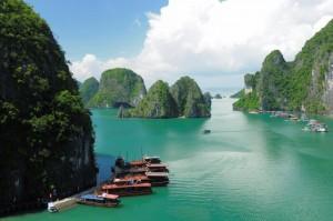 Halong Bay Vietnam River Boats