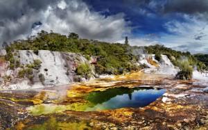Orakei Korako geothermal valley New Zealand