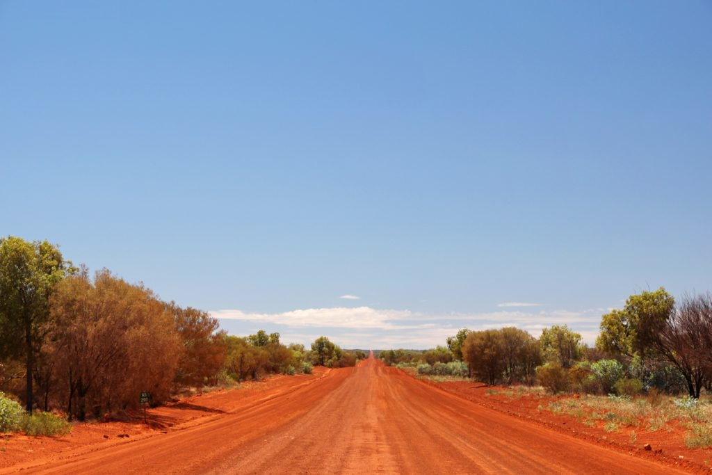 Central Australia outback road