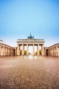 Pariser Platz and Brandenburger Tor in Berlin