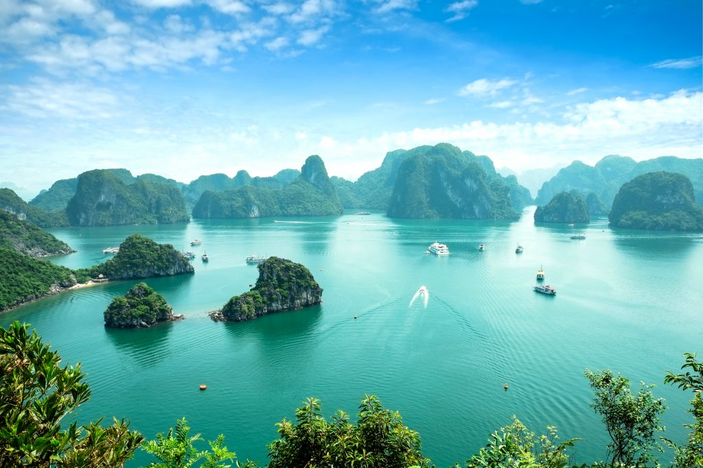 Unesco World Heritage Site. Most popular place in Vietnam. this landscape you can seen from the island Titop