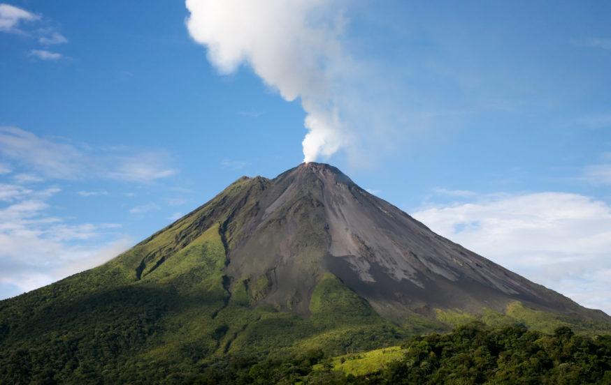 Volcano eruption Costa Rica
