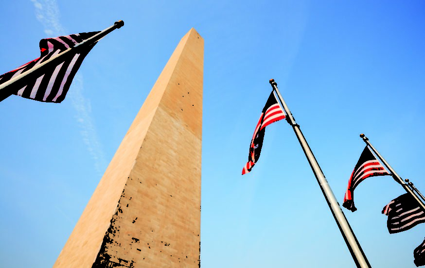 American Flags at Washington Monument