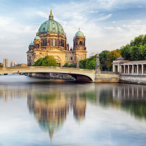Berlin Cathedral on the water