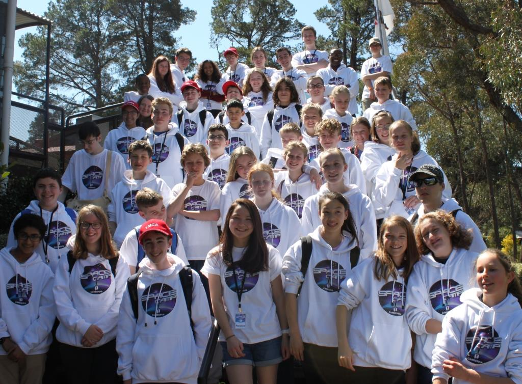 Space Camp School Group Outside