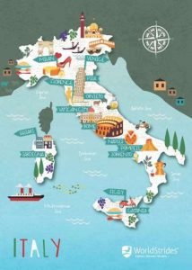 WorldStrides Map of Italy